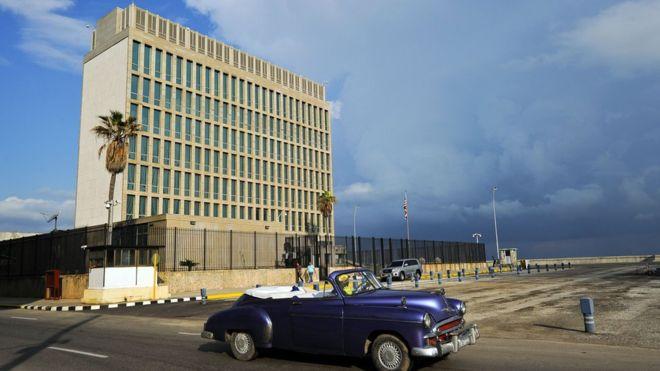 """Estados Unidos afirma que su embajada en La Habana fue objeto de un """"ataque acústico"""". AFP"""