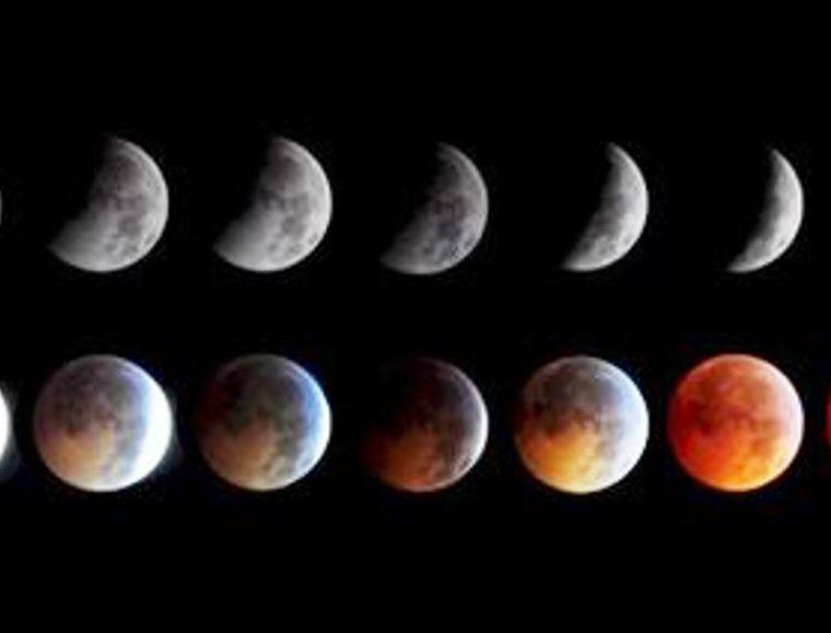 Las fases en que se verá la Luna.