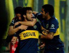 Los jugadores de Boca Juniors celebran el pase a la final. (Foto Prensa Libre: Cortesía CABJ)
