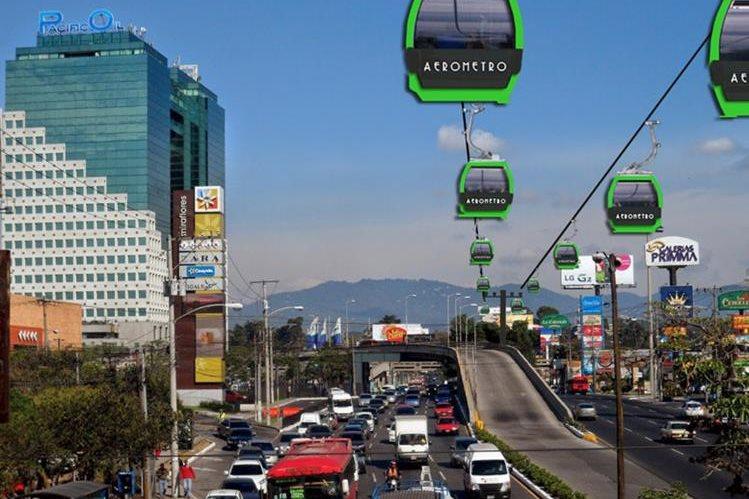 El anuncio de la construcción del Aerometro se efectuó hace 480 días y en la actualidad el tramo de Mixco está estancado por carencia de certeza jurídica. (Foto Prensa Libre: Hemeroteca PL)