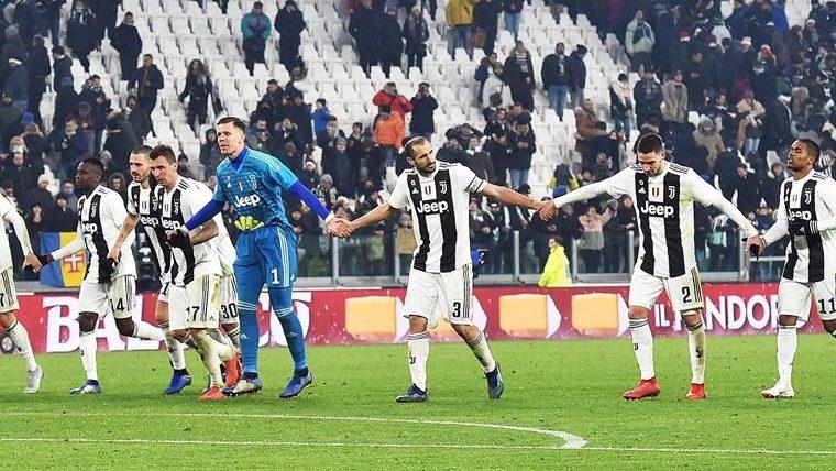 Los jugadores de la Juventus festejaron el fin de semana en la Serie A. (Foto Prensa Libre: EFE)