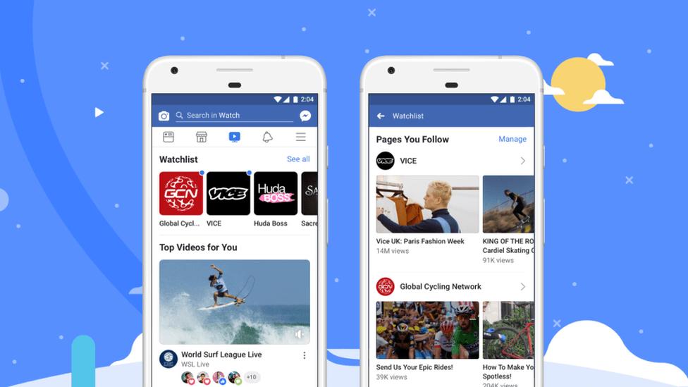 Los creadores de video para Facebook Watch repartirán sus ganancias con la plataforma de esta manera: 55% para los productores, 45% para la red social. FACEBOOK