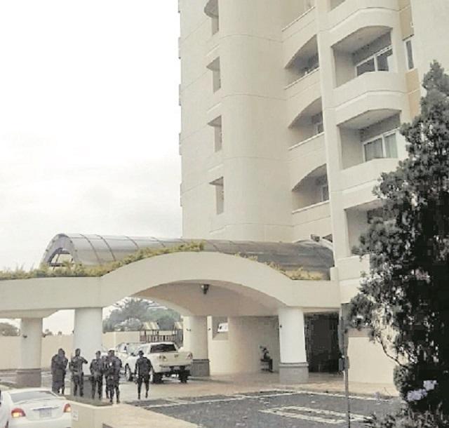 Inmueble ubicado en Santa Catarina Pinula.(Foto Prensa Libre: MP)
