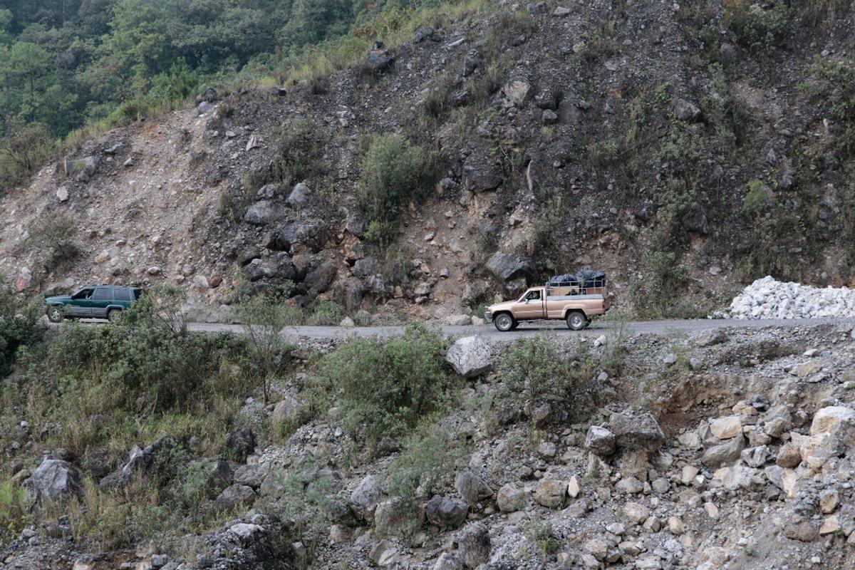 Cerro donde ocurrió la tragedia. (Foto Prensa Libre: Eduardo Sam).