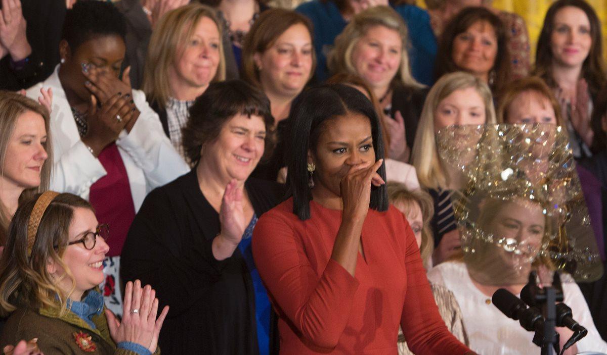 Michelle Obama ofrece un emotivo discurso previo a dejar la Casa Blanca
