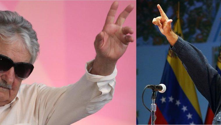 """El expresidente uruguayo, José Mujica,(izq.), dijo que el mandatario de Venezuela (der.), Nicolás Maduro, está """"loco como una cabra"""". (Fotos Prensa Libre: AP/AFP)."""