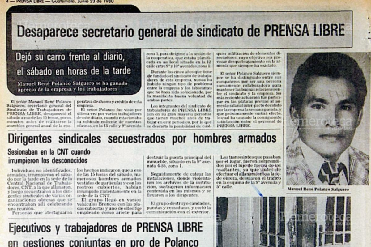 1980: Secuestran a sindicalistas