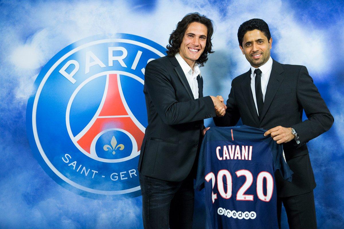 Edinson Cavani renueva con el París SG hasta 2020