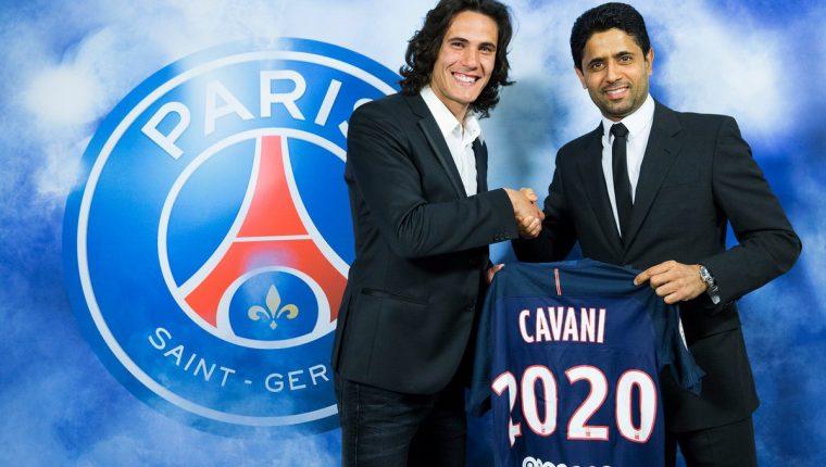 Edinson Cavani extendió su contrato con el PSG hasta el 2020. (Foto Prensa Libre).