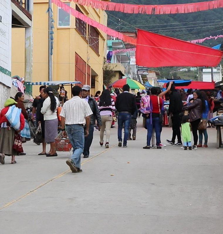 Una de las calles de Sibinal. (Foto Prensa Libre: Whitmer Barrera)