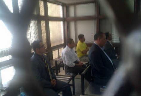 Sindicados por el caso Pavón escuchan su sentencia. (Foto Prensa Libre: Jerson Ramos)