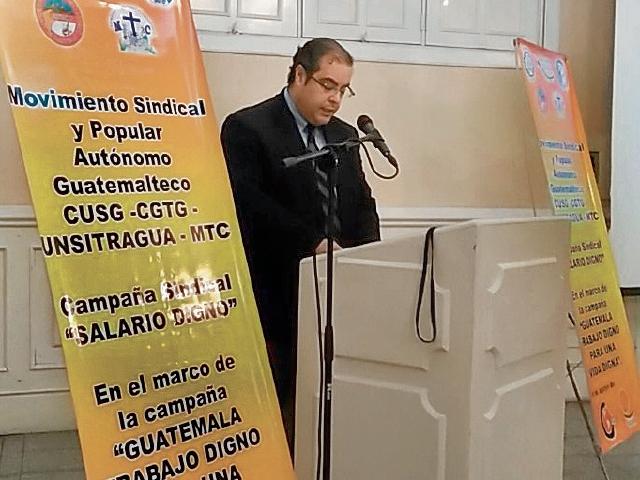 Sindicalistas promueven salario digno en el país