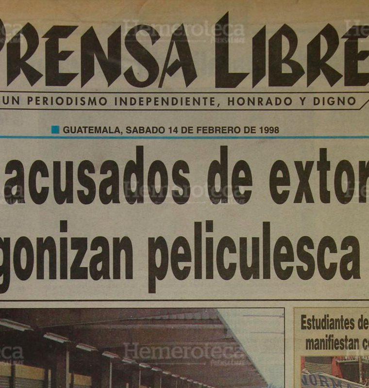 Como en una peli?cula de Hollywood, cuatro reos se fugaron de la ca?rcel de Jutiapa. 14/02/1997. (Foto: Hemeroteca PL)