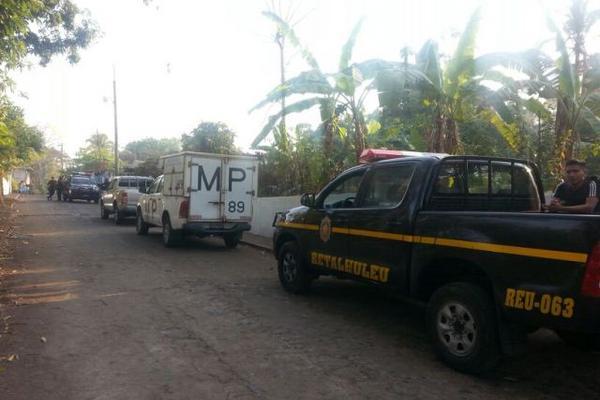 El operativo se efectuó en la aldea El Xal, El Asintal, Retalhuleu. (Foto Prensa Libre: Rolando Miranda)