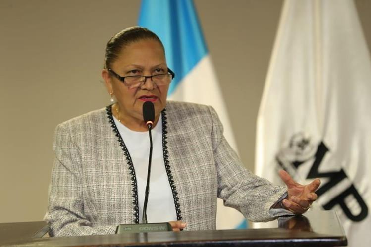 La fiscal General del Ministerio Público, María Consuelo Porras, lamentó los hechos violentos contra mujeres. (Foto Prensa Libre: Hemeroteca PL)