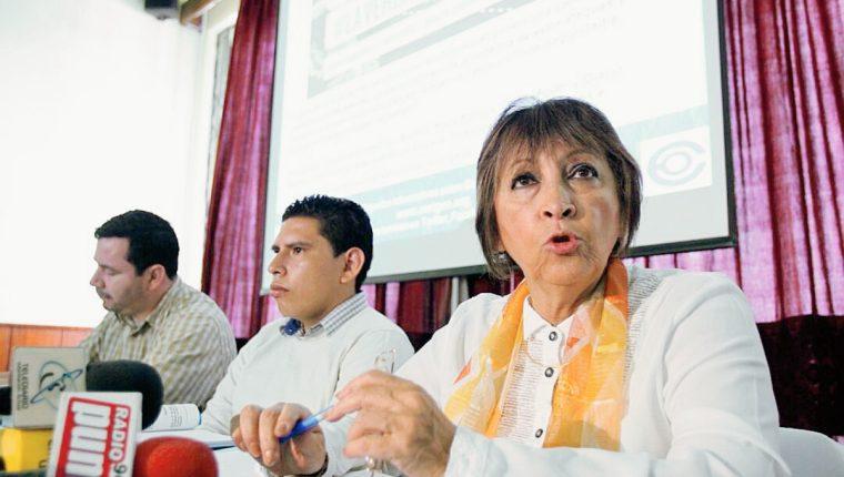Representantes de  Cerigua presentaron informe( Foto Prensa Libre: Eswin García)