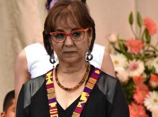 El reconocimiento Maestre en Letras lo obtuvo la escritora Aida Elizabeth Toledo Arévalo. (Foto Prensa Libre: Fred Rivera)