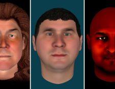 Estos tres avatares fueron creados por gente que formó parte de la prueba.