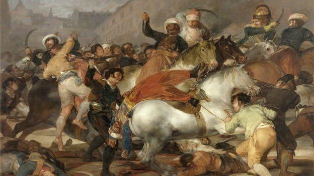 El levantamiento del 2 de mayo de 1808 en Madrid, duramente reprimido por las tropas napoleónicas, dio el pistoletazo de salida para la guerra de independencia española. (Museo del Prado)