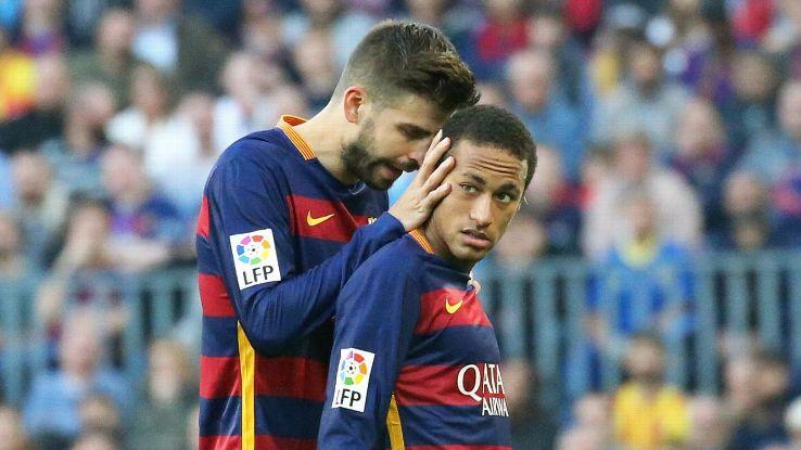 """Piqué había """"confirmado"""" en un tweet que el brasileño se """"quedaría"""" en Barcelona. (Foto Prensa Libre: Hemeroteca)"""