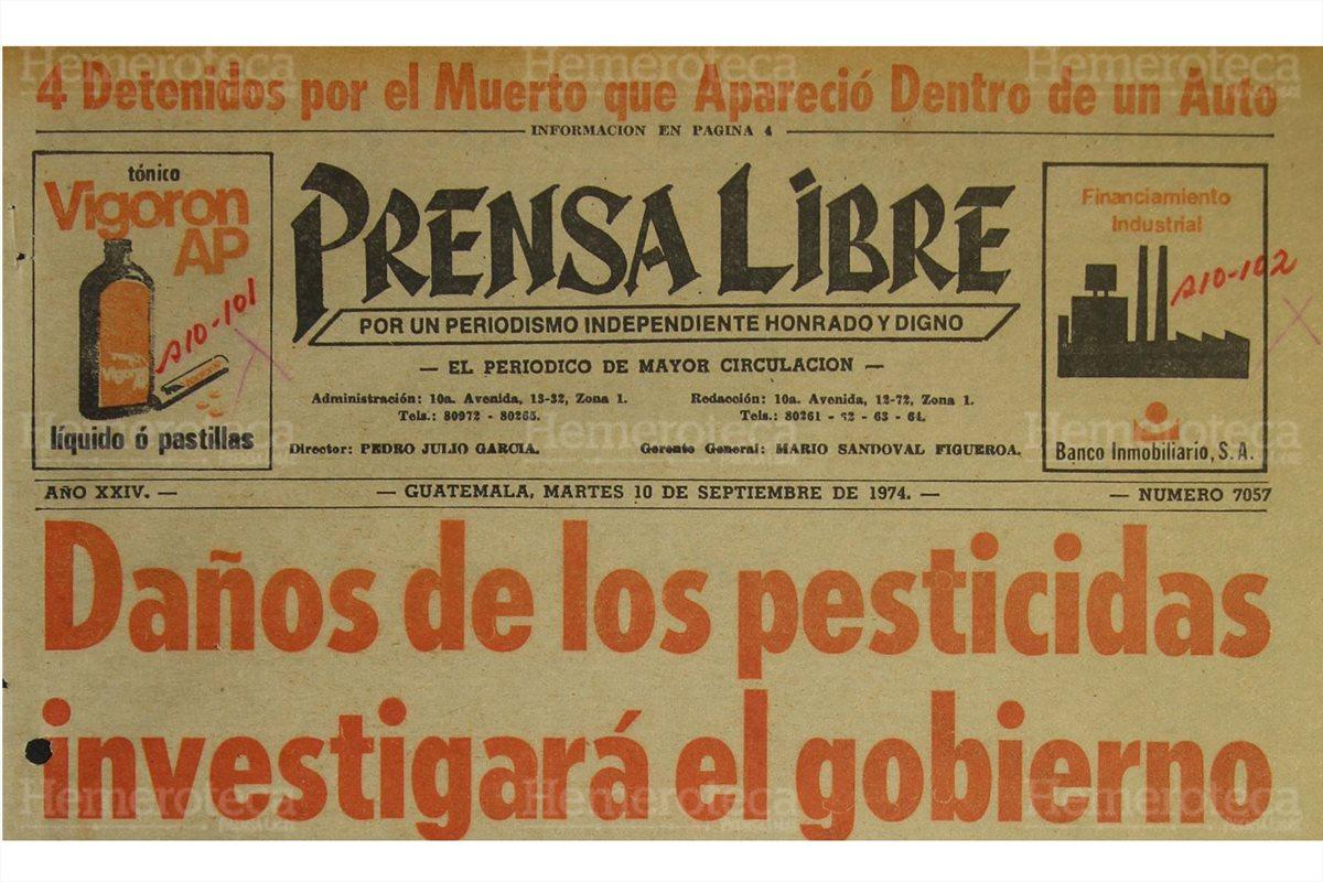 Investigan daños causados con pesticidas