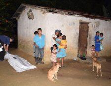 Lugar donde ocurrió el crimen contra una niña de 8 años, quien fue ultrajada en la comunidad Cerro Pelón, Zacapa. (Foto Prensa Libre: Cortesía)