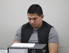 Jabes Meda durante una audiencia en el juzgado octavo. (Foto Prensa Libre: Hemeroteca).