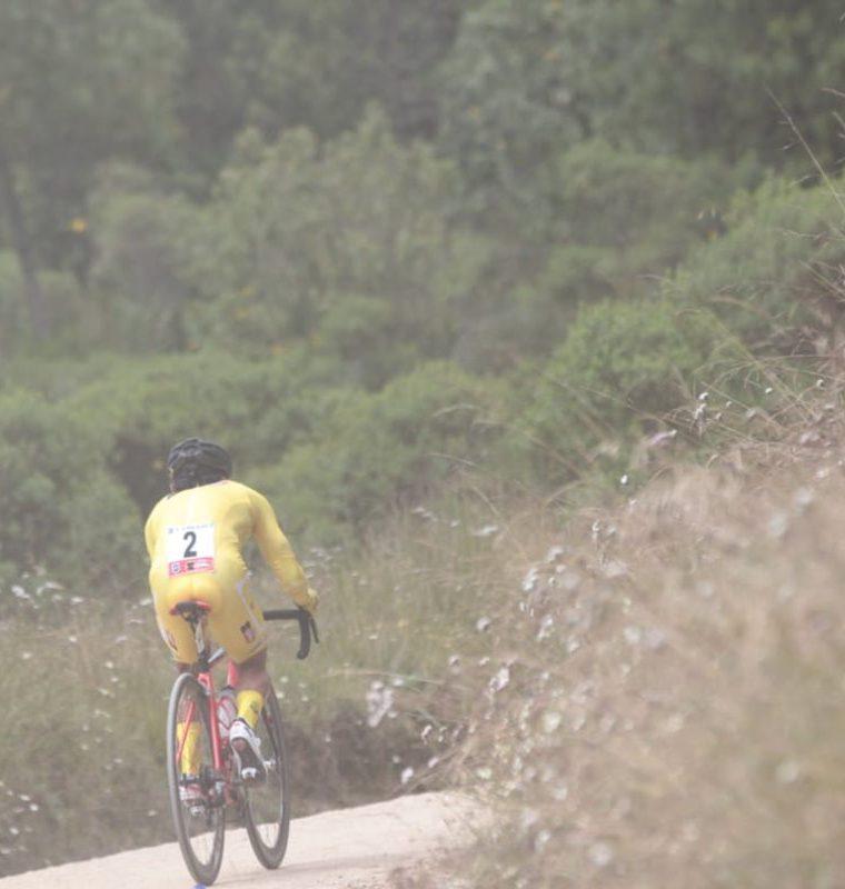 Alfredo Ajpacajá complementó la etapa de 18 kilómetros en 42 minutos y 48 segundos. (Foto Prensa Libre: Norvin Mendoza)