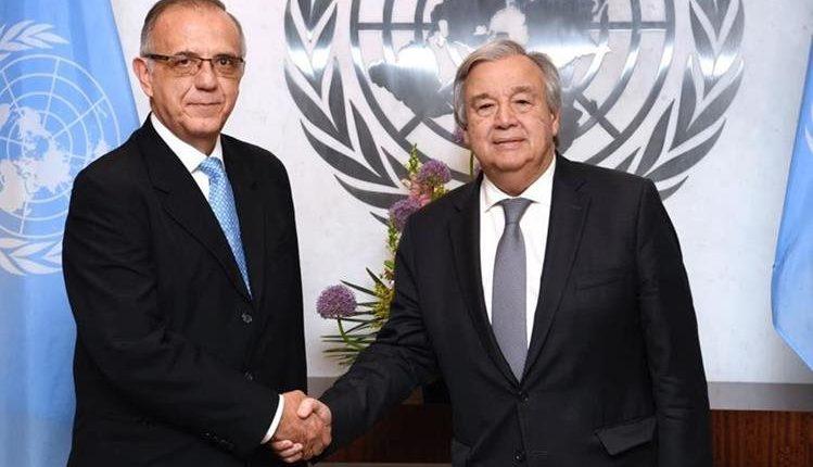 La ONU resaltó el trabajo de Iván Velásquez (izquierda) al frente de la Cicig. En la foto, con el secretario de la ONU, António Guterres. (Foto: Hemeroteca PL)