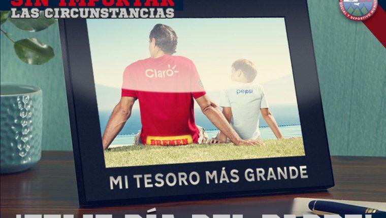 Este es el mensaje del Día del Padre de Municipal a sus seguidores en twitter. (Foto Prensa Libre: CSD Municipal)