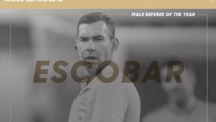 Maro Escobar Toca fue nominado para mejor árbitro de la Concacaf del 2018. (Foto Prensa Libre: Concacaf)