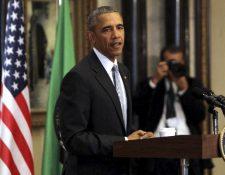 Barack Obama durante su intervención en el Consejo de Cooperación del Golfo. (EFE).