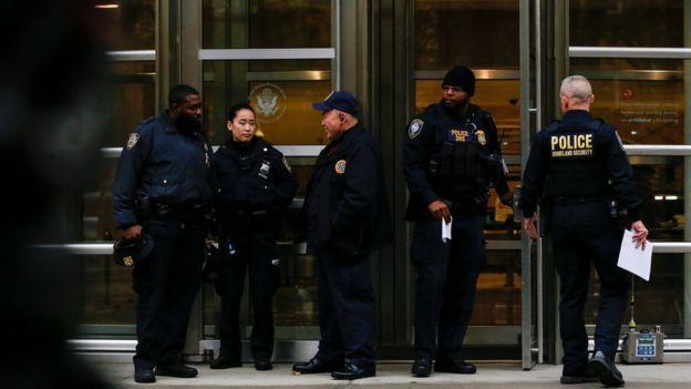 """El juicio al """"Chapo"""" en Nueva York se realiza bajo un fuerte operativo de seguridad. REUTERS"""