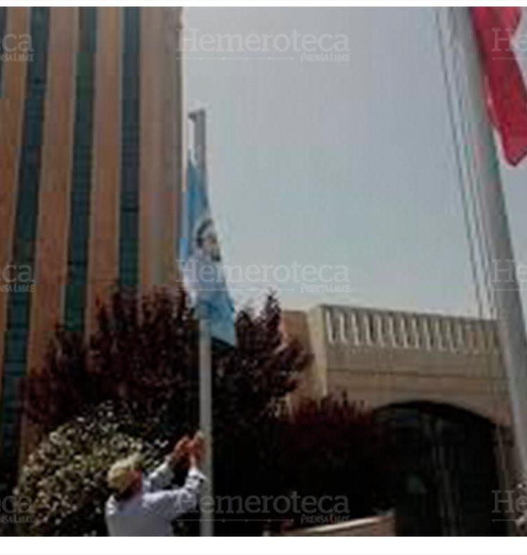 Nueva sede de la embajada de Guatemala en Jerusalén. (Foto Prensa Libre: Gustavo Montenegro)