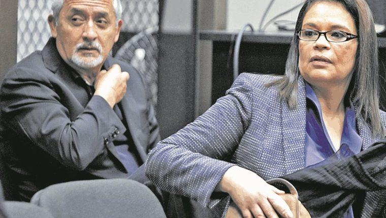 Otto Pérez Molina y Roxana Baldetti durante una audiencia del caso La Línea, el pasado 6 de febrero.