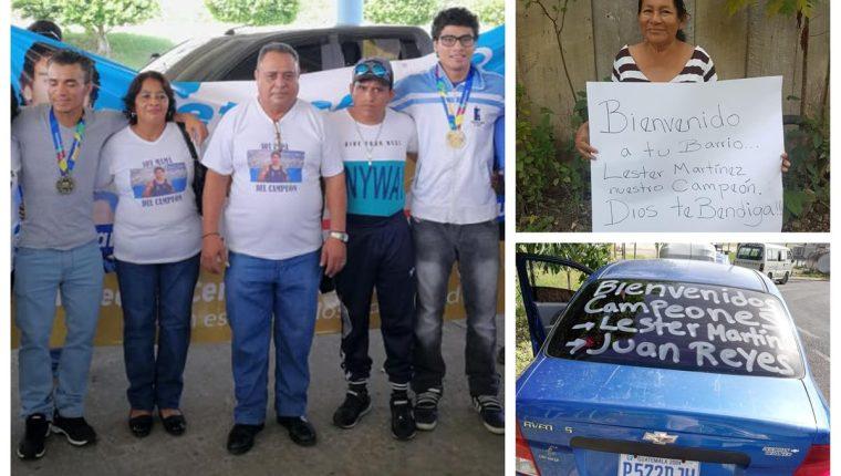 Familiares y amigos le mostraron su cariño a Léster Martínez y Juan Reyes. (Foto Prensa Libre: Facebook)