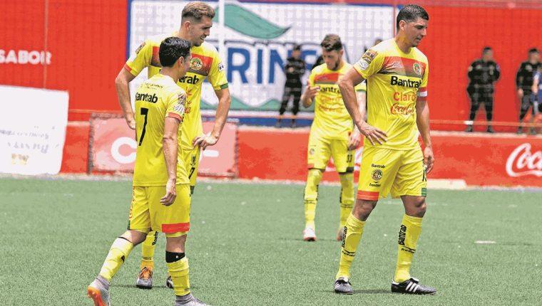 Marquense vive momentos complicados en el Clausura 2018, que lo tienen muy cerca de perder la categoría. (Foto Prensa Libre: Raúl Juárez).