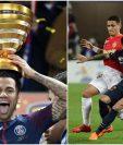 El brasileño Dani Alves festejó este sábado la Copa de Francia con el PSG. (Foto Prensa Libre: EFE)