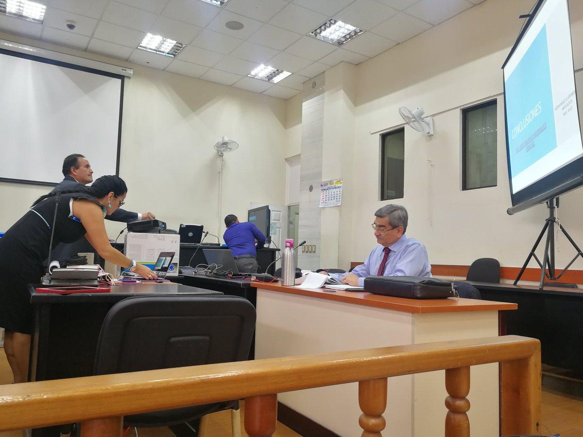 La abogada Esther Guerrero argumentó durante más de cinco horas a favor del general retirado José Mauricio Rodríguez Sánchez. (Foto Prensa Libre: Kenneth Monzón)