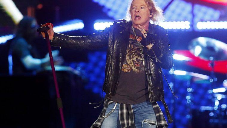 Axl Rose, vocalista de Guns N' Roses, dijo que quería tocar junto a U2 y Pearl Jam (Foto Prensa Libre: EFE).