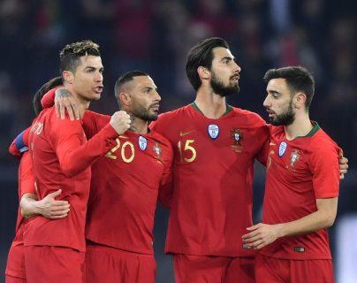 Cristiano Ronaldo consiguió dos anotaciones que le permitió a Portugal el triunfo frente a Egipto. (Foto Prensa Libre: AFP)