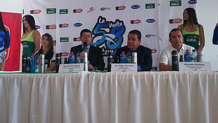 Los organizadores de la Vuelta Ciclística a Guatemala presentaron los detalles. (Foto Prensa Libre: Carlos Vicente)