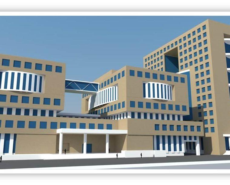 Así quedará el edificio del MP que se construirá con los fondos del préstamo. (Foto Prensa Libre. MP)