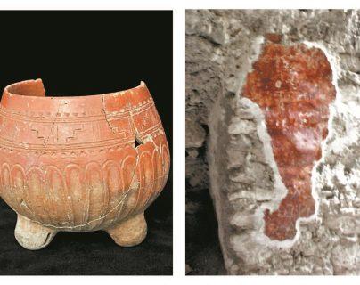 """En """"El Porvenir"""" se han rescatado algunas piezas cerámicas y, en una subestructura, se halló un fragmento de un mural pintado sobre estuco que data del Clásico temprano. (Fotos: Andrés Girón / Proyecto Cuenca Mirador)"""