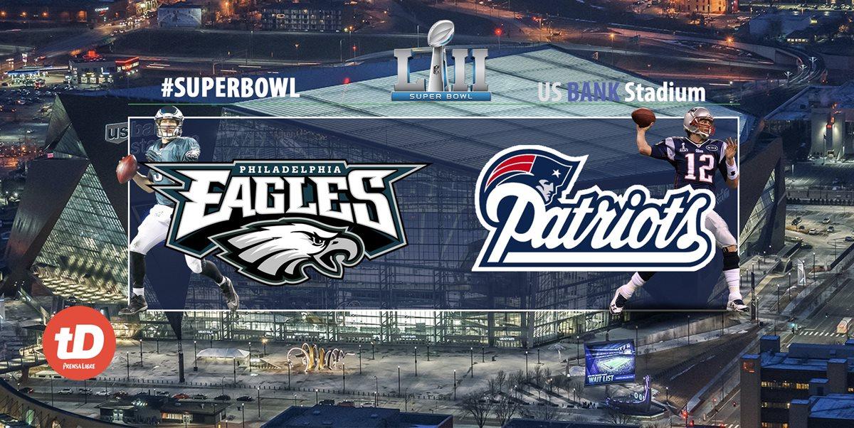 Eagles y Patriots pelearán por el título de la NFL en Minneápolis. (Foto Prensa Libre: TodoDeportes)