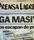 Titular de Prensa Libre del 18 de junio de 2001. (Foto: Hemeroteca PL)