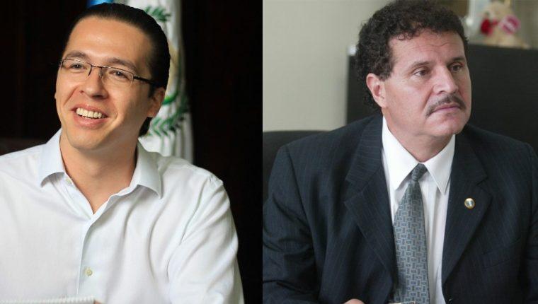 El diputado Felipe Alejos y el juez Adrián Rodríguez. (Fotos Prensa Libre: Hemeroteca PL).