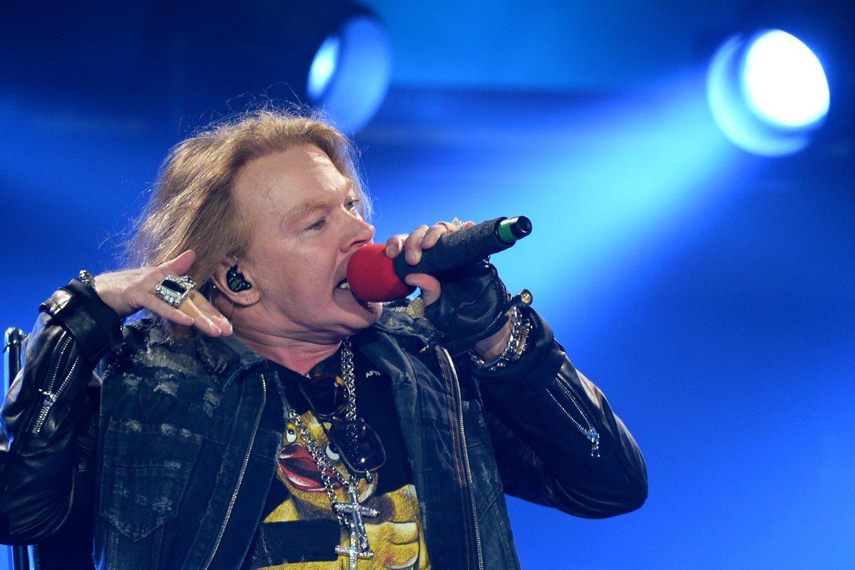 En redes sociales, los usuarios especulan con un concierto de Guns N' Roses en Guatemala (Foto Prensa Libre: AFP).