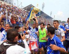 Suchitepéquez se coronó campeón el 29 de mayo de año pasado en el Clausura 2016. (Foto Prensa Libre: Hemeroteca)