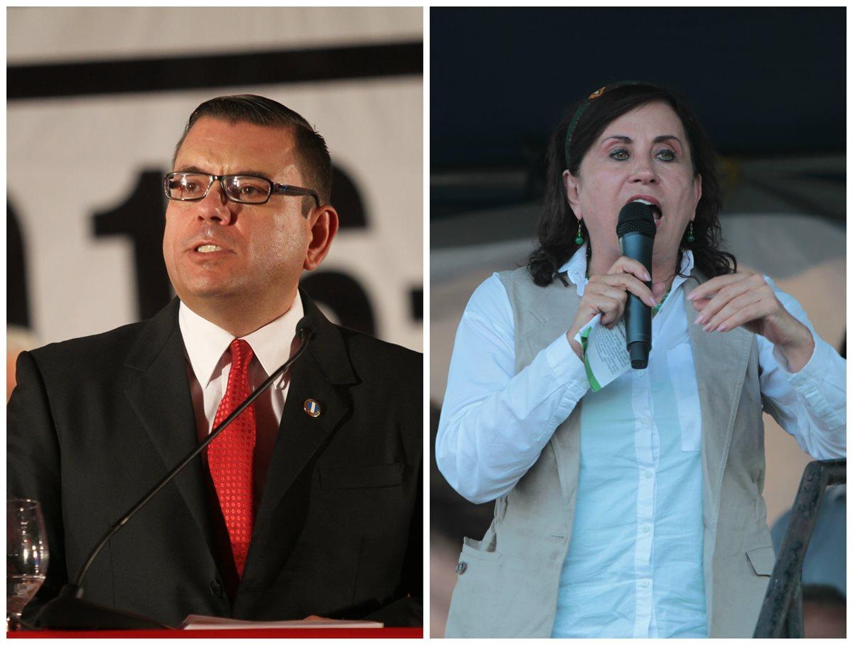 Manuel Baldizón y Sandra Torres, candidatos a la Presidencia.